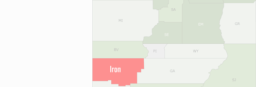 Iron County Map