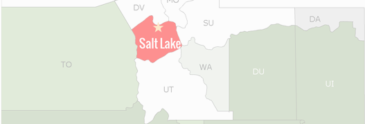Salt Lake County Map