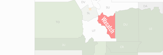 Wasatch County Map